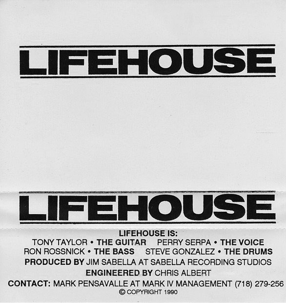 Lifehouse: S/T, 3 songs, 1990