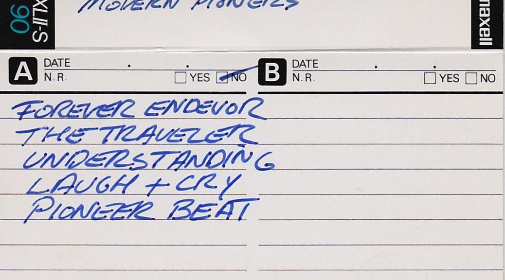 Modern Pioneers: Five songs circa 1984