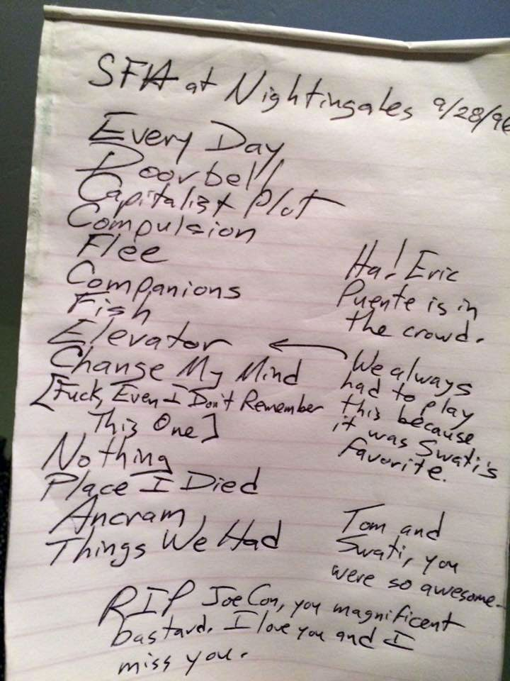 Squirrels From Hell 1996 set list
