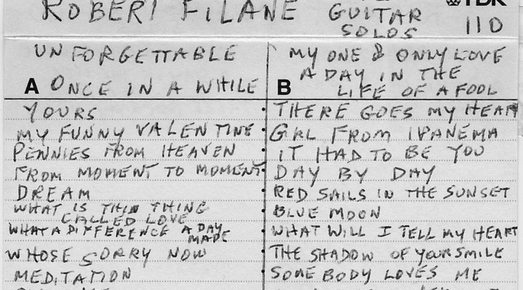 Robert Filane, Solo Guitar #2 (cover)