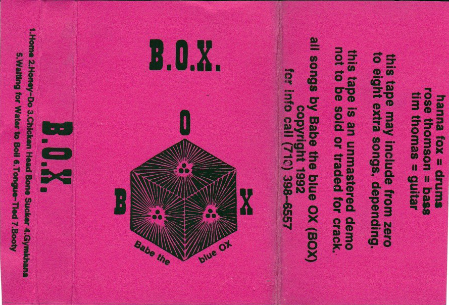 Babe The Blue Ox: B.O.X., 1992