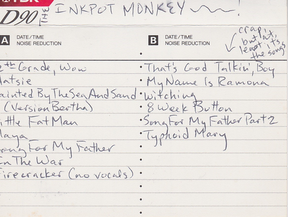 The Inkpot Monkey: Private Work Tape, ca 1998