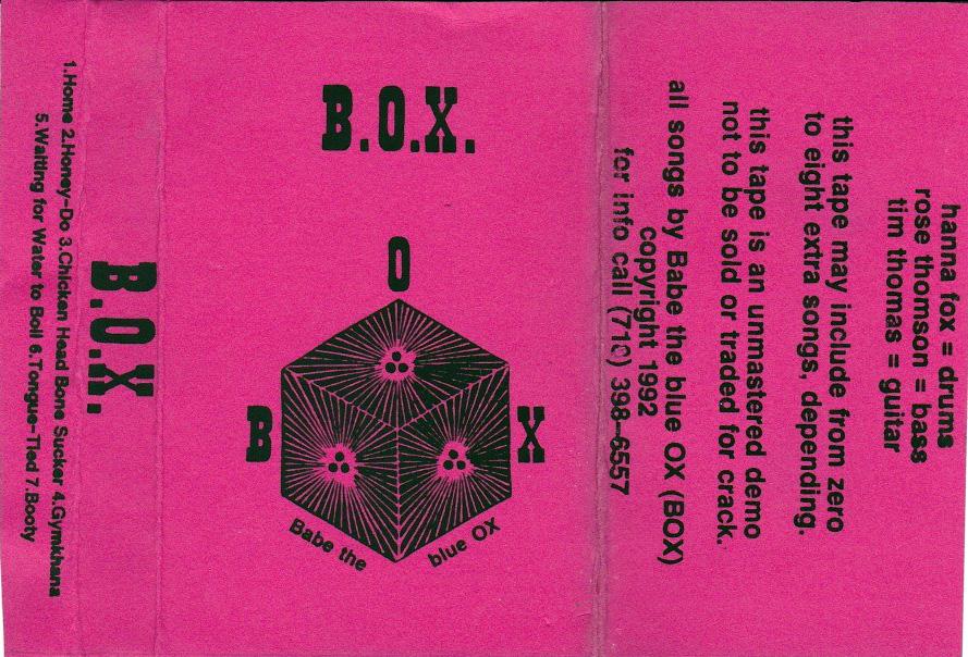 Babe The Blue Ox: B.O.X., 1992